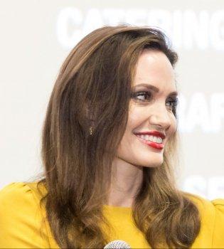 Еще больше цвета: Анджелина Джоли блистает в ярком желтом платье (Фото)