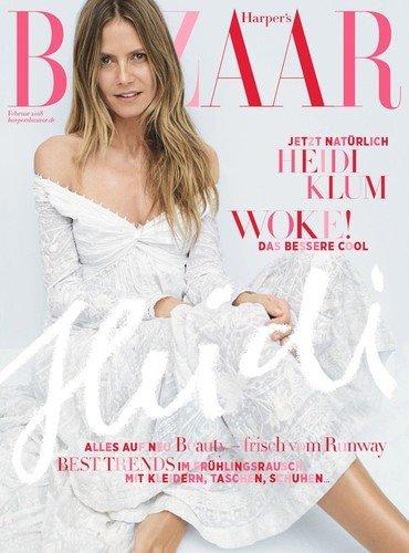 44-летняя Хайди Клум появилась на обложке журнала без макияжа
