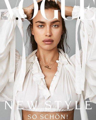 Красавице Ирине Шейк не нужен макияж даже для обложки глянца