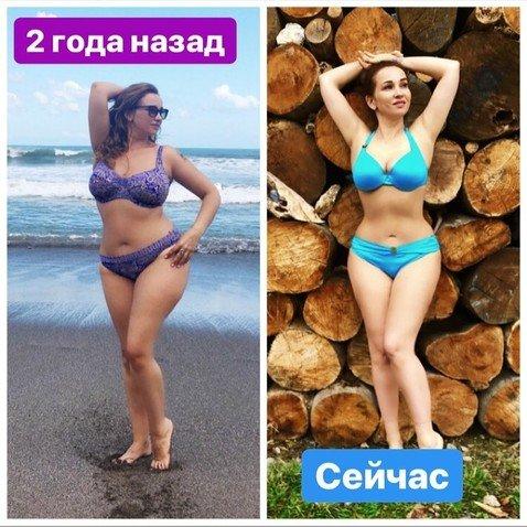 Анфиса Чехова показала фото до и после похудения
