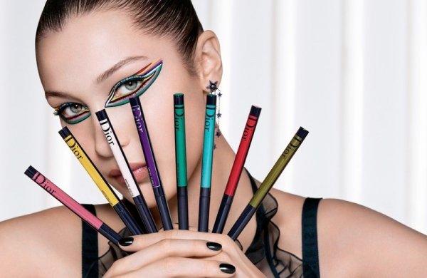 Цвета лета: цветные лайнеры, туши для ресниц и тинты для бровей от Dior