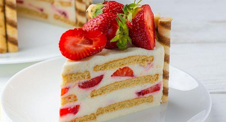 Очень вкусный клубничный десерт летний десерт!