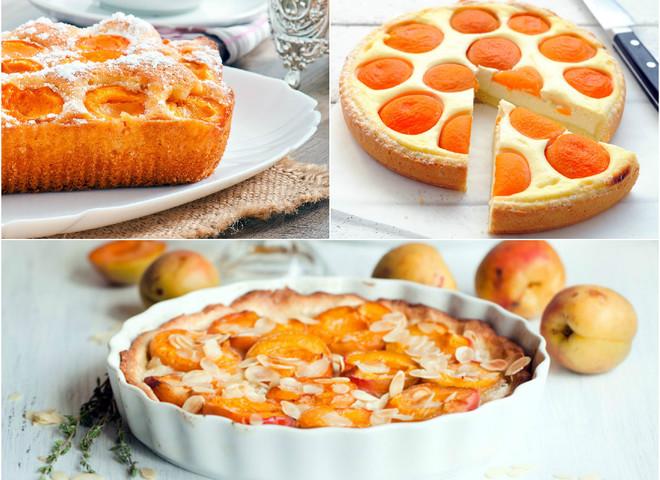 Пирог с сыром и абрикосами