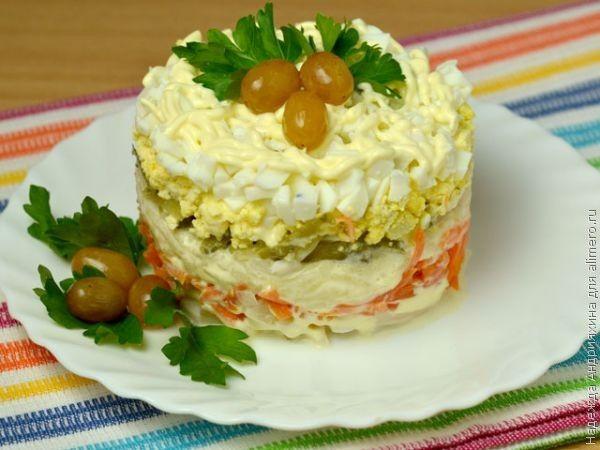 Интересный салатик на праздничный стол!