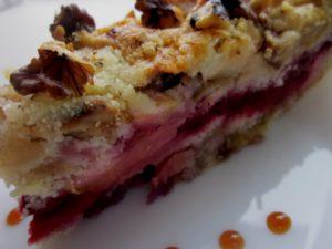 Рецепт сливового пирога.