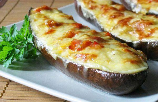 Легкая и низкокалорийная закуска — Фарширование Баклажаны